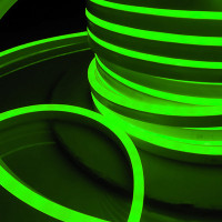 Гибкий неон LS001 220V 9.6W 120Led 2835 IP67 односторонний зеленый, 50 м