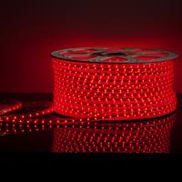 Лента светодиодная 220V 4,8W 60Led 2835 IP65 красный, 50 м (LS004 220V)