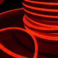 Гибкий неон LS001 220V 9.6W 120Led 2835 IP67 односторонний красный, 50м