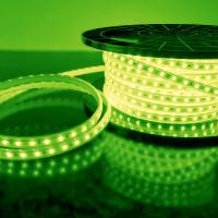 Лента светодиодная 220V 4,8W 60Led 2835 IP65 зеленый, 50 м (LS004 220V)