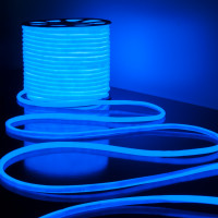 Гибкий неон LS003 220V 9.6W 144Led 2835 IP67 16mm круглый синий, 50 м