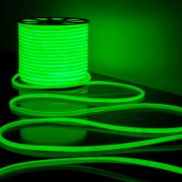 Гибкий неон LS003 220V 9.6W 144Led 2835 IP67 16mm круглый зеленый, 50 м