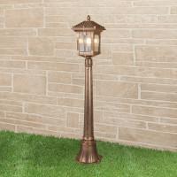 Уличный светильник на столбе IP44 GL 1021F Corvus F черное золото