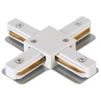 Коннектор X-образный CLT 0.211 09 WH Crystal Lux