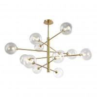 Подвесная люстра Marzo SP12 Bronze/Transparente Crystal Lux