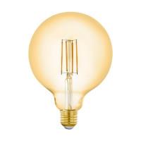 Лампа светодиодная филаментная диммируемая Eglo E27 6W 2200K золотистая 12573