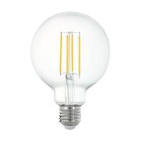 Лампа светодиодная филаментная диммируемая Eglo E27 6W 2700K прозрачная 11863