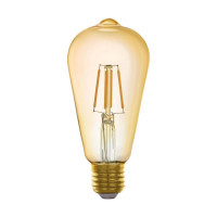 Лампа светодиодная филаментная диммируемая Eglo E27 5,5W 2200K золотистая 11865