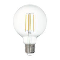 Лампа светодиодная филаментная диммируемая Eglo E27 6W 2700K прозрачная 12571