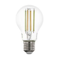 Лампа светодиодная филаментная диммируемая Eglo E27 6W 2200-6500K прозрачная 12574