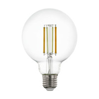 Лампа светодиодная филаментная диммируемая Eglo E27 6W 2200-6500K прозрачная 12576