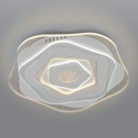 Потолочный светодиодный светильник с пультом управления 90210/1 белый Freeze