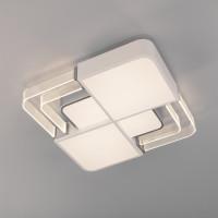 Потолочный светодиодный светильник с пультом управления 90182/1 белый/серебро Target