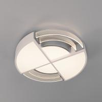 Потолочный светодиодный светильник с пультом управления 90181/1 белый/серебро Target