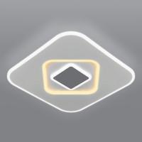 Потолочный светодиодный светильник с пультом управления 90218/1 белый/ серый Just