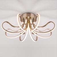 Потолочный светодиодный светильник 90079/8 сатин-никель Lilium