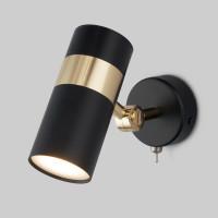 Настенный светильник с выключателем 20096/1 черный/золото Viero Eurosvet