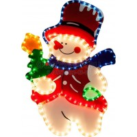 """Световая фигура """"снеговик"""", 4м лапмы мульти, 36 ламп/1м, 45*67см Feron"""