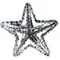 "Гирлянда ""8 звезд"", акрил, 56 LED белый, 1.36м Feron"