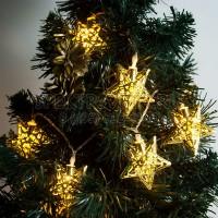 """Гирлянда """"золотые звезды"""" 10 LED, 0.9м Feron"""