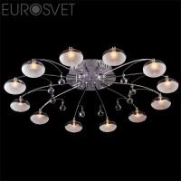 Потолочный светильник 4894/12 хром/синий+красный+фиолетовый Eurosvet