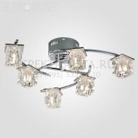 Светодиодная люстра с пультом Calipso 80105/6 хром Eurosvet