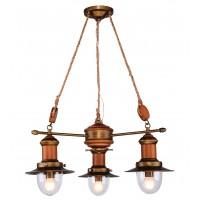 Люстра деревянная подвесная 1321-3P FAVOURITE