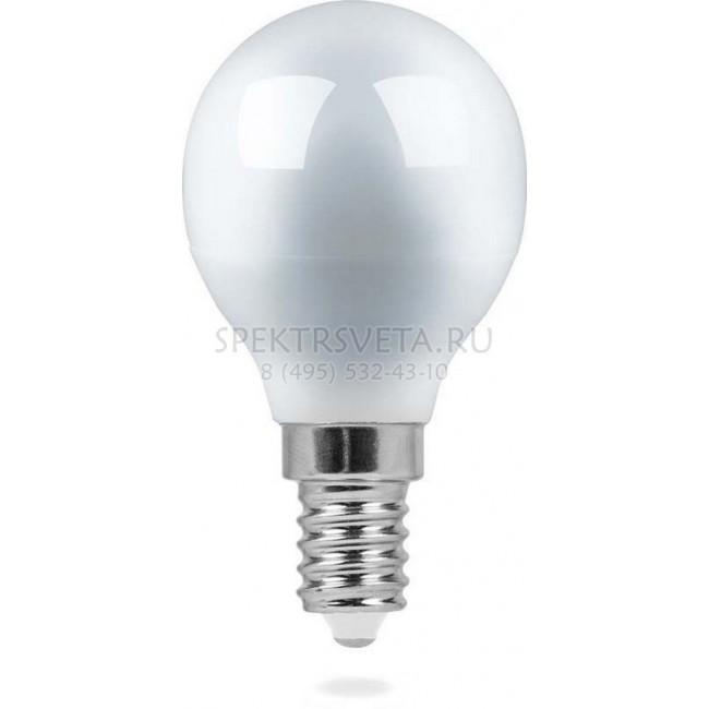 Лампа светодиодная 25403 9LED(5W) 230V E14 4000K Feron