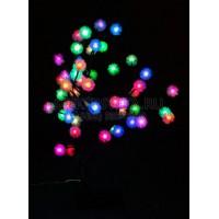"""Световая фигура """"дерево"""", 48 LED зелено-красный + сине-красный, 53*45см Feron"""