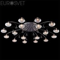 Потолочный светильник 4894/18 хром/синий+красный+фиолетовый Eurosvet