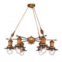 Люстра деревянная подвесная 1321-6P FAVOURITE