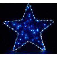 Световая фигура Звезда 26713 LT015 белый+синий 4,8W Feron