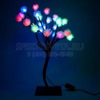 """Световая фигура """"дерево"""", 28 LED (зелено-красный + сине-красный), 40*30*10см Feron"""