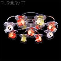 Потолочный светильник 4933/9 хром/бело-синий Eurosvet