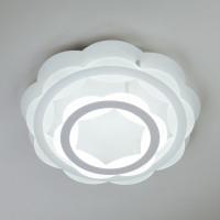 Потолочная светодиодная люстра с пультом ДУ Corona 90076/2 белый Eurosvet