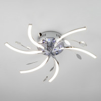 Потолочная светодиодная люстра с пультом ДУ Windmill 90125/6 хром Eurosvet