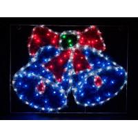 Световая фигура Колокольчик 26714 LT016 белый+синий+зеленый+красный 9,6W Feron