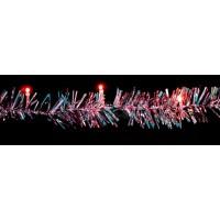 "Гирлянда ""мишура"", 20 LED красный, батарейки 2*АА, 2м Feron"