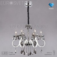 Люстра хрустальная с LED подсветкой рожков Oberon 419/6 Strotskis Bogates