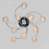 Светодиодная люстра с пультом Gabriela 80104/10 хром Eurosvet