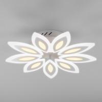 Светодиодная потолочная люстра с пультом управления Kabuki 90158/9 белый 165W Eurosvet