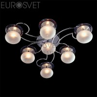 Светодиодная люстра с пультом 4998/7 хром/синий+ красный+фиолетовый Eurosvet