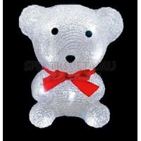 "Световая фигура ""медведь маленький"", 10 LED белый, батарейки 2*АА, 135х110х160мм Feron"