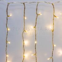 Гирлянда Занавес, 2х3м., ЛАЙТ, 600 LED, теплый белый, с мерцанием холодный белый LED-IL600-2030-230-WW(2X3)-T-120WF G08-1567 Гирлянда.РФ