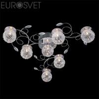 Потолочный светильник 4830/7 хром/синий+красный+фиолетовый Eurosvet