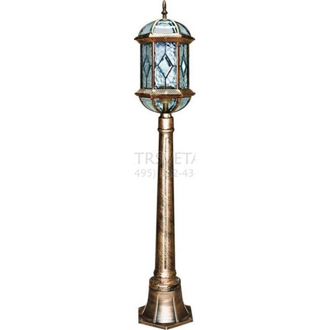 Наземный высокий светильник Витраж с ромбом 11338 Feron