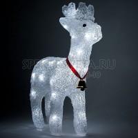 """Световая фигура """"олень"""", 200 LED белый, 71*22*95см Feron"""