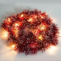 """Гирлянда """"мишура красная"""" 20 LED, 2м Feron"""