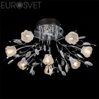 Светодиодная люстра с пультом 4902/8 хром Eurosvet