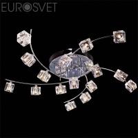 Светодиодная люстра с пультом 4976/16 хром/синий+красный+фиолетовый Eurosvet